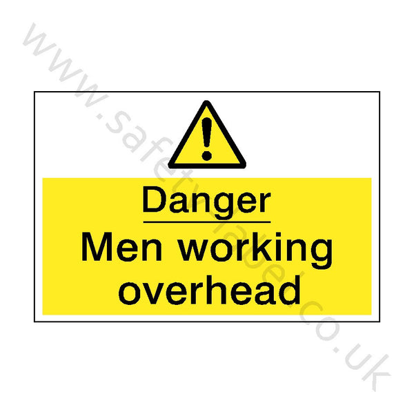 Men Working Overhead Safety Sign | Safety-Label.co.uk