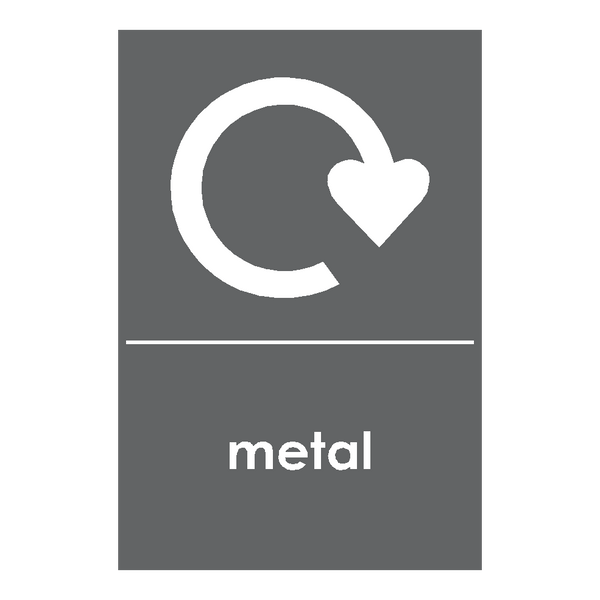 Recycling Metal Sticker - Safety-Label.co.uk