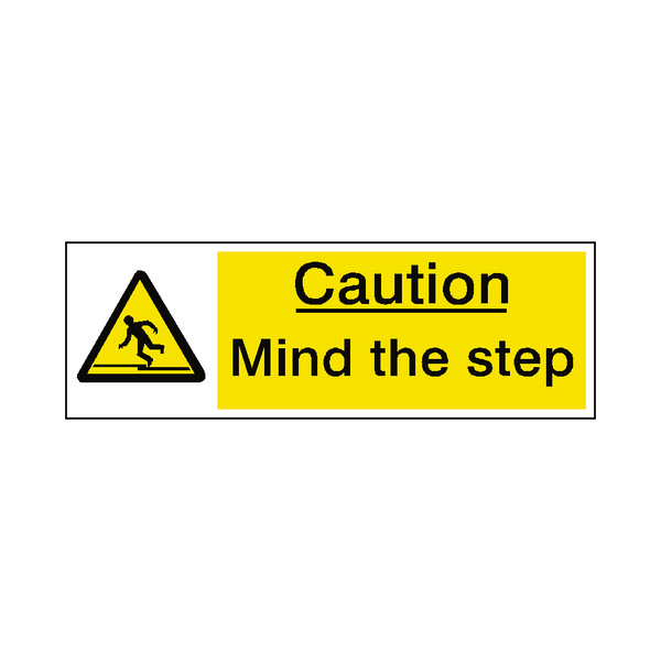 Mind The Step Warning Sign | Safety-Label.co.uk