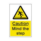 Mind The Step Sticker | Safety-Label.co.uk