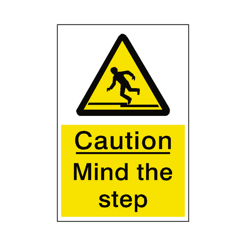 Mind The Step Sticker - Safety-Label.co.uk