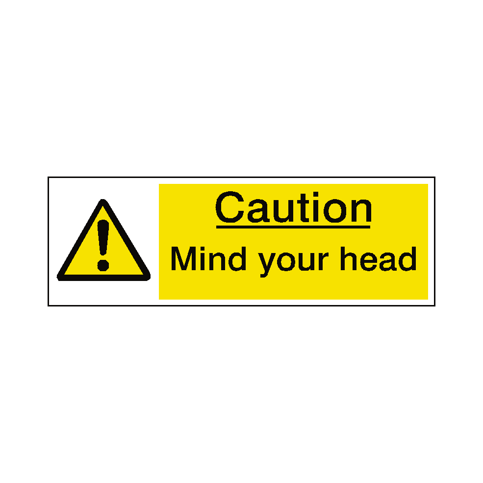 High Quality Aluminium Mind Your Head Sticker Adhesive Sign