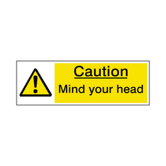 Mind Your Head Label - Safety-Label.co.uk