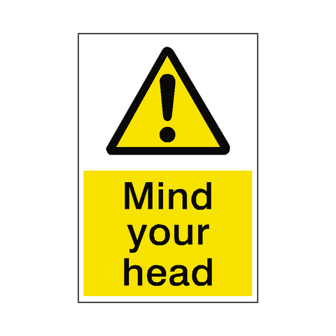 Mind Your Head Hazard Sign - Safety-Label.co.uk