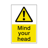 Mind Your Head Sticker | Safety-Label.co.uk