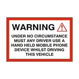 Mobile Phone Vehicle Sticker | Safety-Label.co.uk