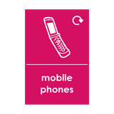 Mobile Phone Waste Sticker | Safety-Label.co.uk