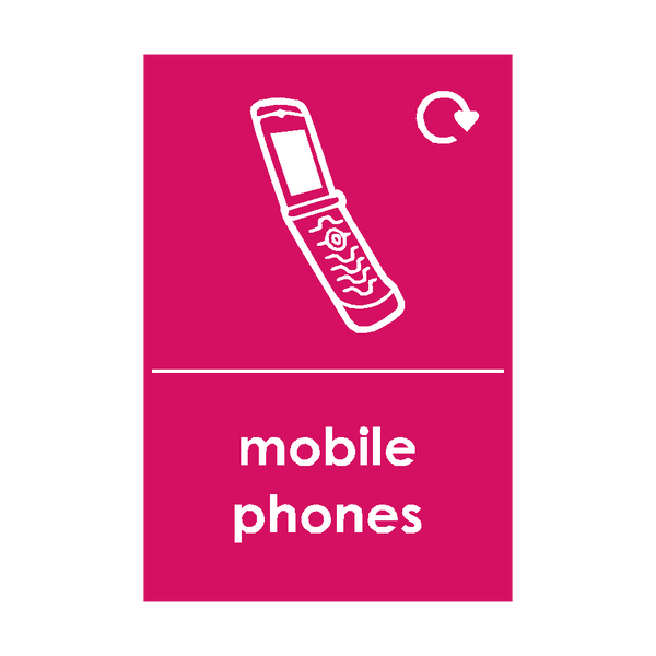 Mobile Phone Waste Sticker - Safety-Label.co.uk