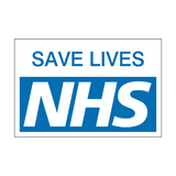 Save Lives NHS Sticker | Safety-Label.co.uk