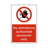 No Admittance Sign | Safety-Label.co.uk