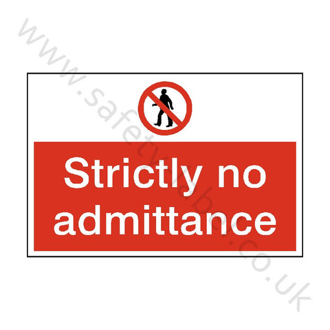 Strictly No Admittance Construction Sign - Safety-Label.co.uk