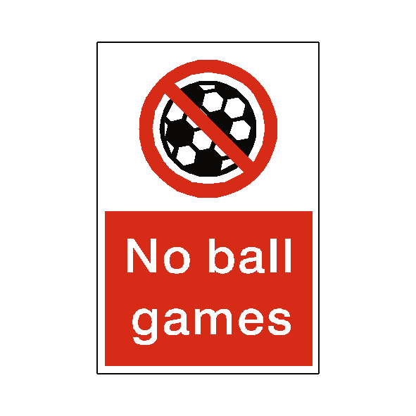 No Ball Games Sticker - Safety-Label.co.uk