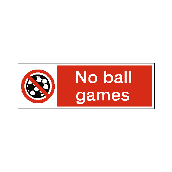 No Ball Games Label - Safety-Label.co.uk