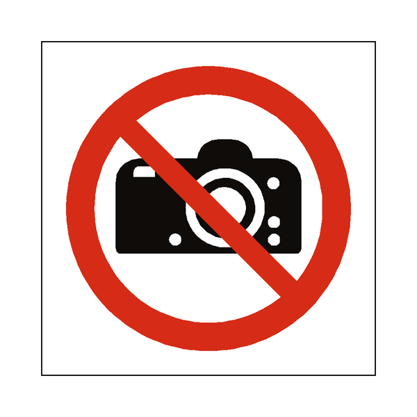 No Photography Symbol Label - Safety-Label.co.uk