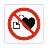 No Cardiac Device Symbol Sign | Safety-Label.co.uk