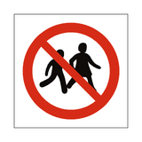 No Children Allowed Symbol Sign | Safety-Label.co.uk