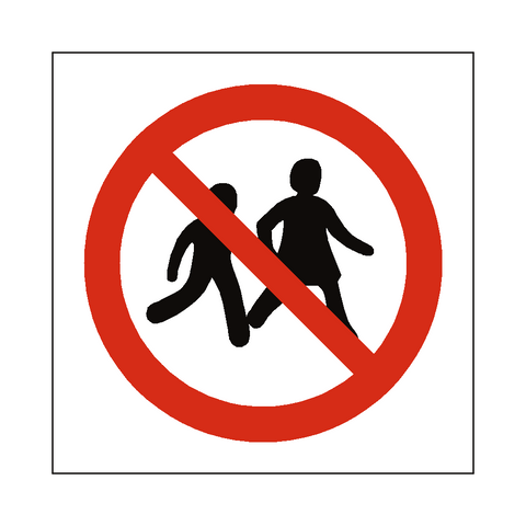 No Children Allowed Symbol Sign - Safety-Label.co.uk