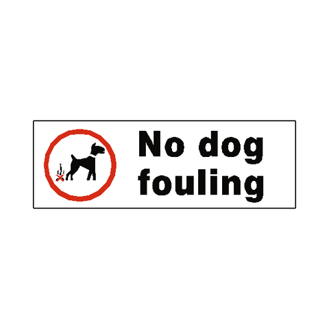 No Dog Fouling Safety Sign - Safety-Label.co.uk