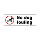 No Dog Fouling Label - Safety-Label.co.uk