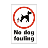 No Dog Fouling Sticker | Safety-Label.co.uk