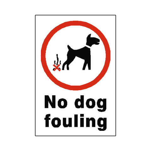No Dog Fouling Sticker - Safety-Label.co.uk
