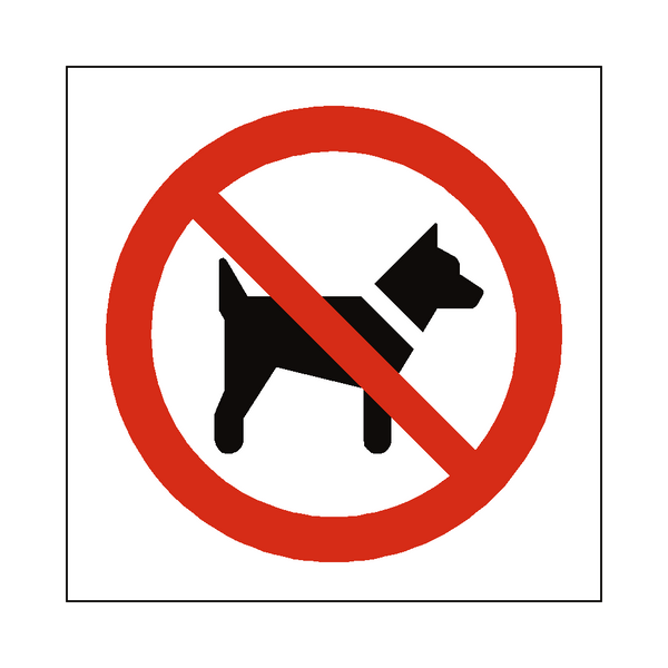 No Dogs Symbol Sign - Safety-Label.co.uk