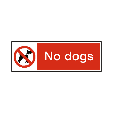 No Dogs Safety Sign - Safety-Label.co.uk
