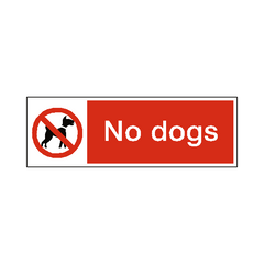 No Dogs Label - Safety-Label.co.uk