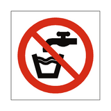No Drinking Water Symbol Sign | Safety-Label.co.uk