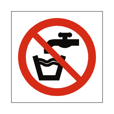 No Drinking Water Symbol Sign - Safety-Label.co.uk