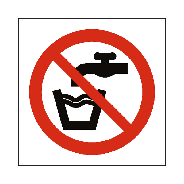 No Drinking Water Symbol Label - Safety-Label.co.uk