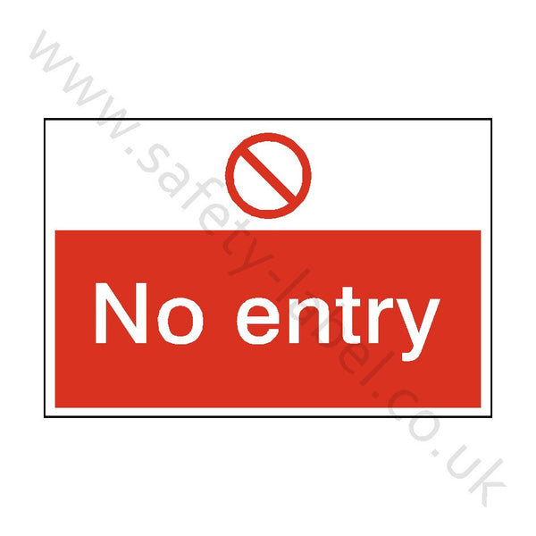 No Entry Construction Site Sign | Safety-Label.co.uk
