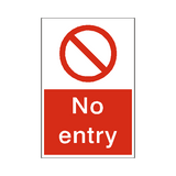 No Entry Sticker | Safety-Label.co.uk