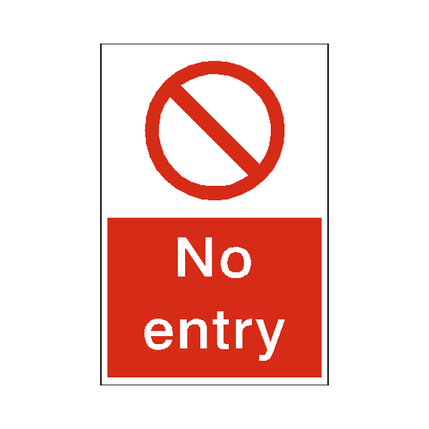 No Entry Sticker - Safety-Label.co.uk