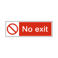 No Exit Label - Safety-Label.co.uk