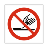 Do Not Use For Face Grinding Symbol Sign - Safety-Label.co.uk