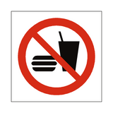 No Eating Or Drinking Symbol Sign - Safety-Label.co.uk