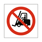 No Access Forklift Truck Symbol Label | Safety-Label.co.uk