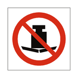 No Heavy Load Symbol Sign | Safety-Label.co.uk