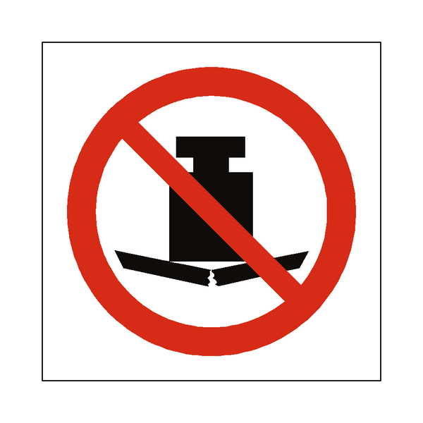No Heavy Load Symbol Label - Safety-Label.co.uk