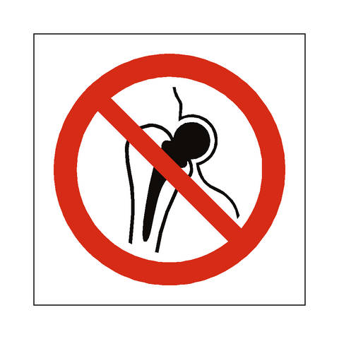 No Metal Implants Symbol Sign - Safety-Label.co.uk