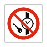 No Metal Objects Symbol Sign | Safety-Label.co.uk