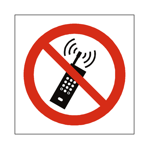 No Mobile Phone Symbol Sign - Safety-Label.co.uk