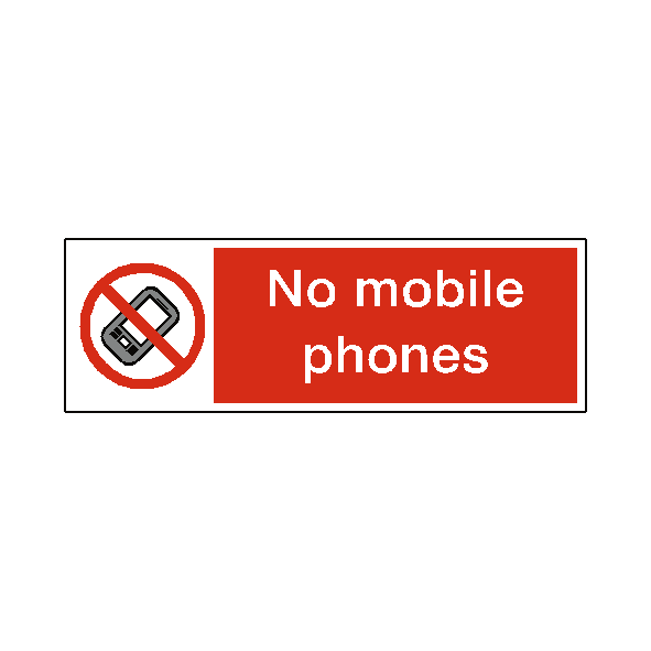 No Mobile Phones Label - Safety-Label.co.uk