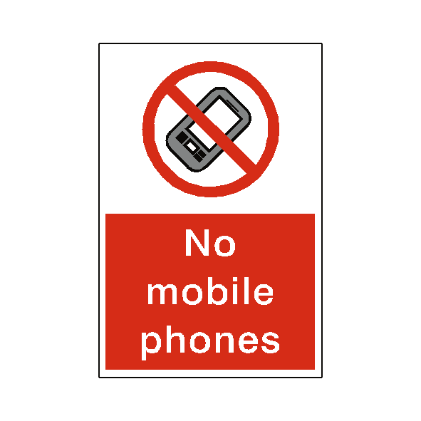 No Mobile Phones Sign - Safety-Label.co.uk