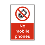 No Mobile Phones Sticker - Safety-Label.co.uk
