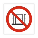 No Obstruction Symbol Sign | Safety-Label.co.uk