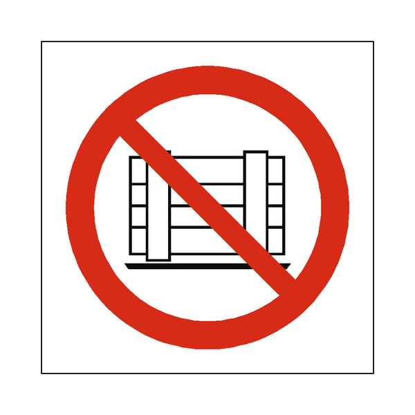 No Obstruction Symbol Sign - Safety-Label.co.uk