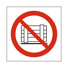 No Obstruction Symbol Label - Safety-Label.co.uk