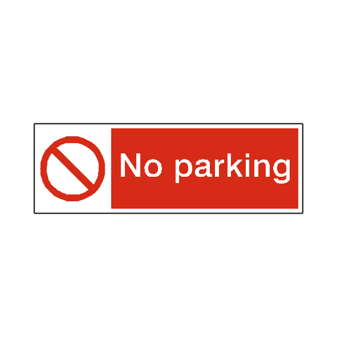 No Parking Safety Sign - Safety-Label.co.uk
